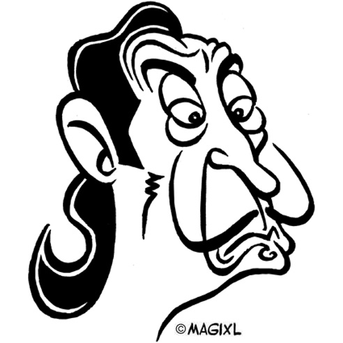 caricature Dali