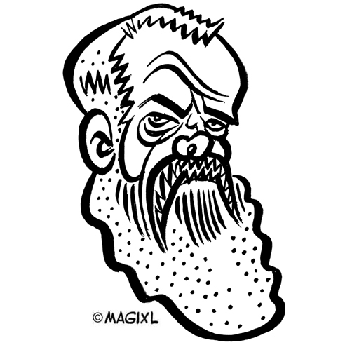 caricature Michaelangelo