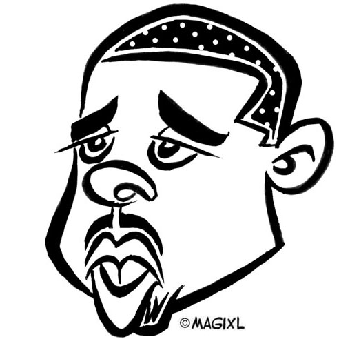 Caricatures Of Nba All Stars